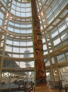 Totem pole.  This airport had lots of Canadian Aboriginal art