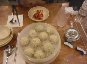 Steamed dumplings in MyongDong!! Probably the best thing I've eaten here.