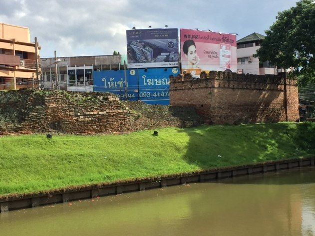 Downtown Chiangmai is surrounded by a moat